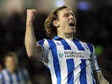 Craig Mackail-Smith celebrates scoring his second for Brighton