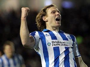 Craig Mackail-Smith celebrates scoring his second for Brighton