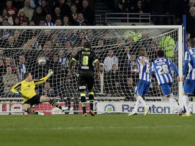 Craig Mackail-Smith scores a penalty for Brighton
