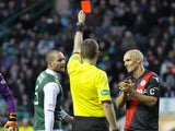 Jim Goodwin is sent off for St Mirren