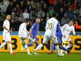 Pablo Hernandez scores the equaliser for Chelsea