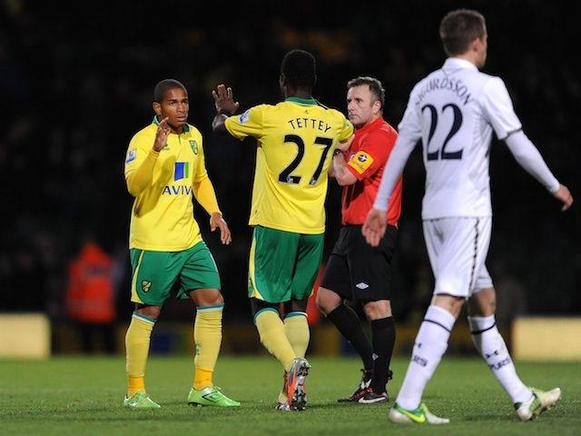 Simeon Jackson celebrates after the final whistle