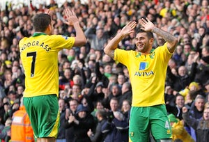 Half-Time Report: Norwich lead through Johnson header