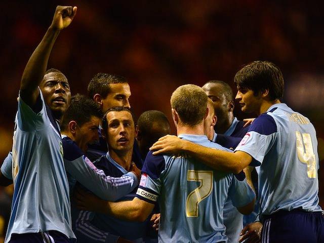 Scott McDonald celebrates opening the scoring for Middlesbrough