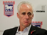 "New Ipswich manager Mick McCarthy sporting the ""meh"" look"