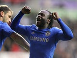 Victor Moses celebrates scoring for Chelsea