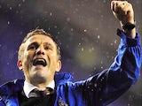 Bradford City manager Phil Parkinson celebrates their win