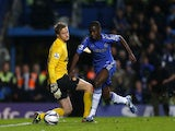 Ramires takes the ball around Anders Lindegaard