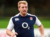 Chris Robshaw training for England