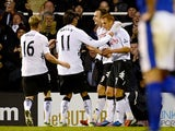 Steve Sidwell scores the equaliser for Fulham
