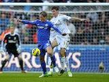 Swansea's Ben Davies and Chelsea's Fernando Torres