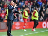 Saints boss Nigel Adkins shouts from the sidelines