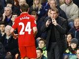 Brendan Rodgers imparts words of wisdom to Joe Allen