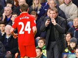 Brendan Rodgers imparts words of wisdom to Joe Allen
