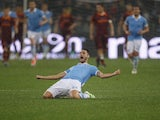 Antonio Candreva celebrates scoring for Lazio