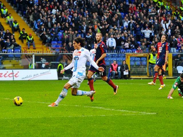 Edinson Cavani scores for Napoli