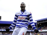 Djibril Cisse celebrates scoring for QPR