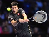 Novak Djokovic in action in the ATP Finals