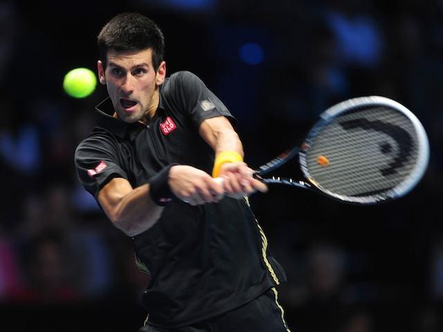 Novak Djokovic in action in the ATP Finals