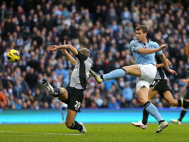 Result Late Edin Dzeko Strike Give Manchester City A Win Over Tottenham Sports Mole