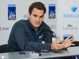 Roger Federer at a press conference ahead of the ATP Finals