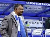 QPR chairman Tony Fernandes before kickoff at Loftus Road