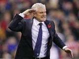 A fuming Mark Hughes