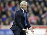 Mark Hughes about to explode