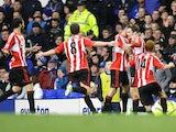 Adam Johnson celebrates scoring for Sunderland