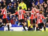 Adam Johnson celebrates scoring for Sunderland