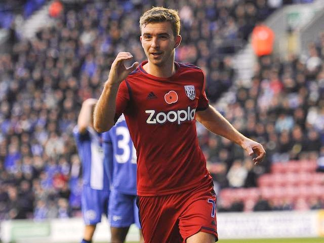 James Morrison celebrates scoring for West Brom