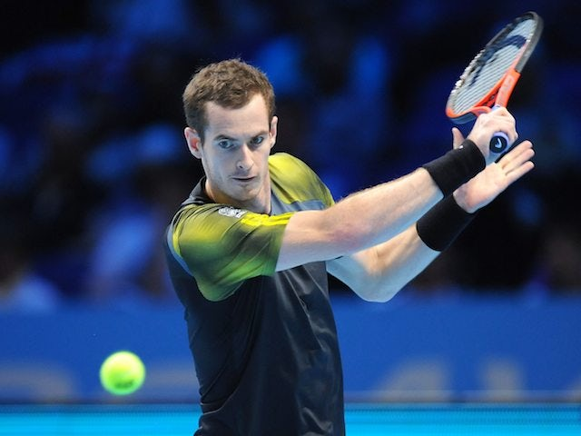 Andy Murray in action against Tomas Berdych