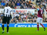 Kevin Nolan scores the opener for West Ham