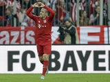 Franck Ribery celebrates scoring for Bayern