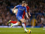 Fernando Torres in action for Chelsea