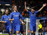 Fernando Torres celebrates scoring for Chelsea