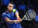 Jo Wilfried Tsonga in action in the ATP Finals