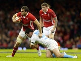 Wales's Sam Warburton is tackled