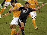Brian Ching and Perry Kitchen in the MLS Playoff