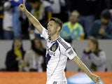 Robbie Keane celebrates his brace for LA Galaxy