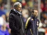 Real Madrid Jose Mourinho during their game with Levante
