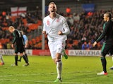 Connor Wickham scores for England U21s