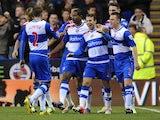 Adam Le Fondre celebrates scoring for Reading on November 17, 2012