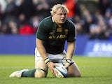 Adriaan Strauss scores a try for South Africa against Scotland on November 17, 2012
