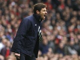 Andre Villas-Boas barks at his Spurs players on November 17, 2012