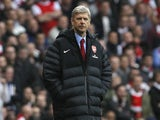 Arsene Wenger wearing his ridiculous coat on November 17, 2012