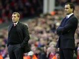 Brendan Rodgers and Roberto Martinez on November 17, 2012
