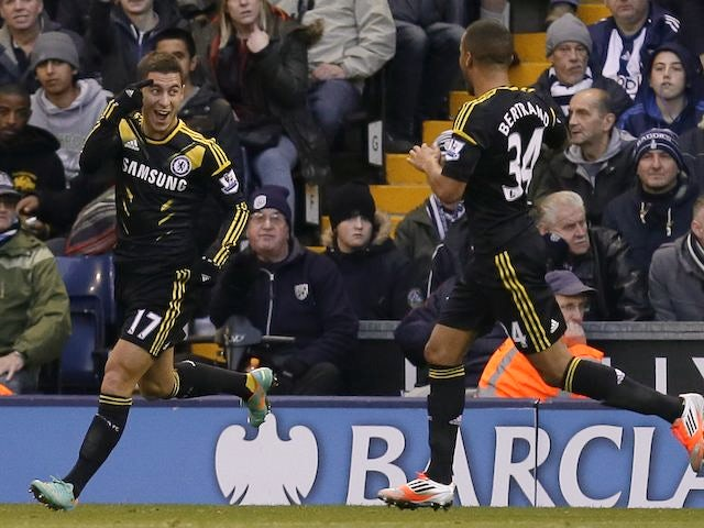 Eden Hazard scores Chelsea's goal on November 17, 2012