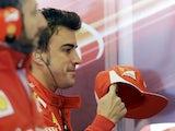 Ferrari driver Fernando Alonso at F1 qualifying in Austin, Texas on November 17, 2012