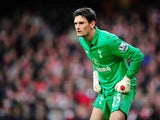 Spurs keeper Hugo Lloris on November 17, 2012